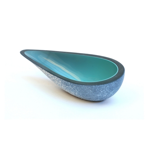 Small Stone Open Bowl Turquoise