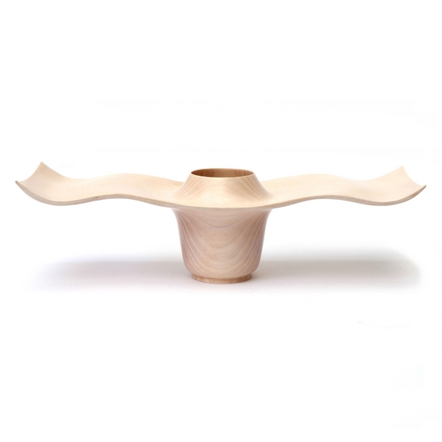 Limed Ash Oblong Bowl