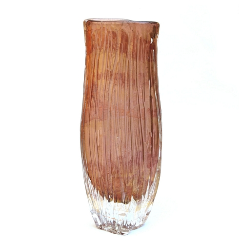 Amber Gold Trailed Vase