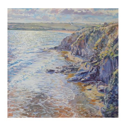 High Tide, Harlyn Bay  21x21  (61)