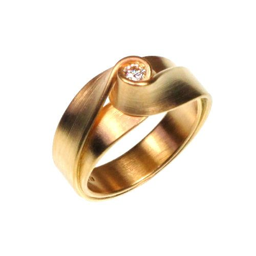 Ring Gold 0.10ct vvs E/F Diamond