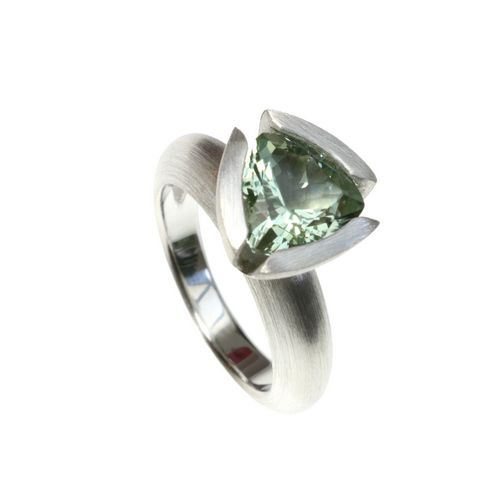 Ring Mint Green Quartz/Silver