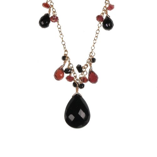 Onyx Cluster Necklace
