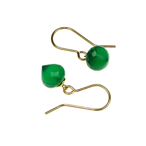 Green Onyx 14ct Goldfill Minaret Earring