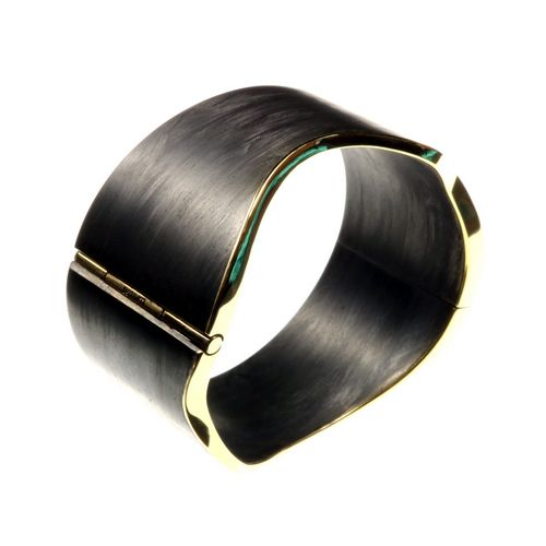Carbon Hinged Cuff Bracelet