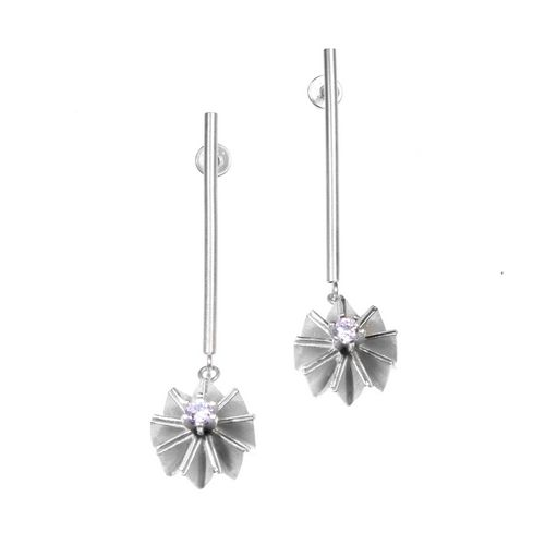 Ruffle Drop Earrings