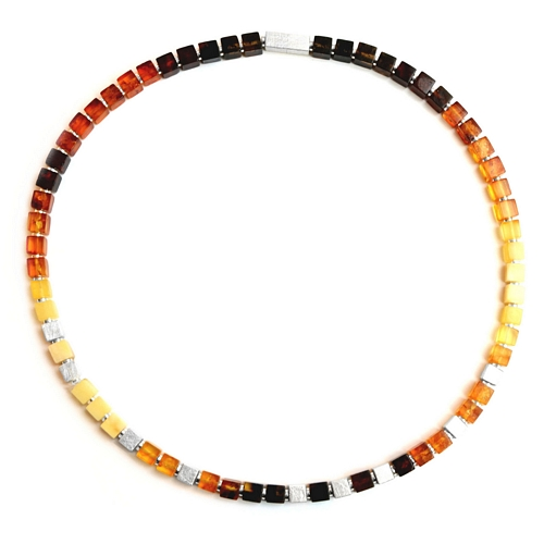 Amber Square Necklace