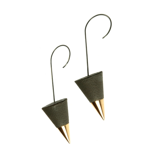 Large Drop Cone Earrings