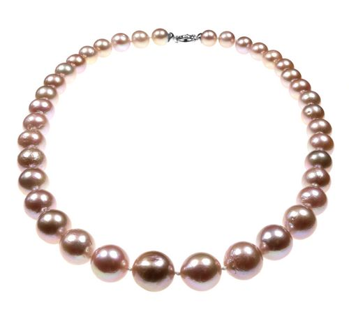 Large Round Pink Pearl Necklace