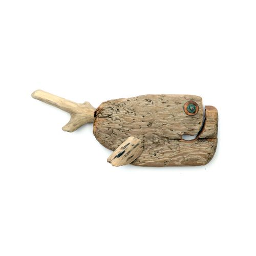Wallmounted Driftwood Fish Chubby Medium
