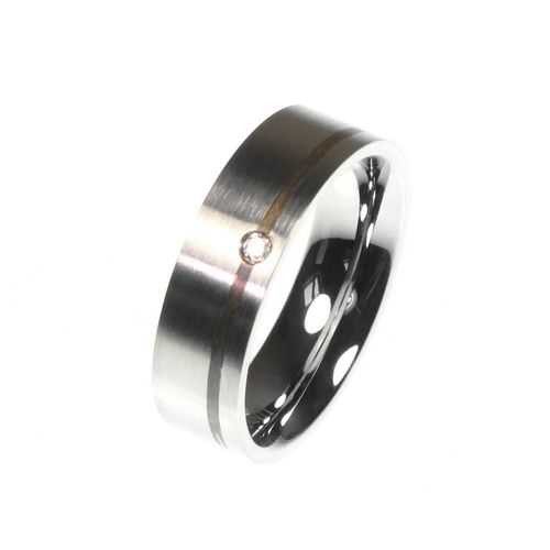 Ring with Silver Inlay