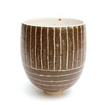 Medium Brown Stripy Vase