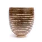 Brown Stripy Vase Med