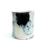 Thrown Vessel with Blue