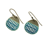 Blue Drop Island Oxide Earrings
