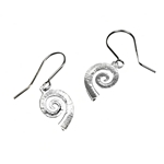 Medium Drop Spiral Earrings
