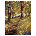 Dappled Light, Autumn Walk 24x18