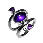 Ring Silver Amethyst, Ruthinium