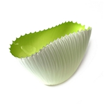 Small Fin Bowl Lime interior with White