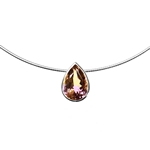 P/nt Tear drop Amatrine  12.50ct