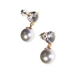 Rock Crystal + Pearl Drop Earrings