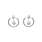 Circle and Pearl Earrings