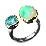 Ring - Aquamarine 8.5ct, Opal