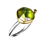 Ring, Peridot and Diamond