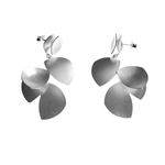 Tri Side Drop Earrings