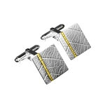 Cufflinks Square Leaf