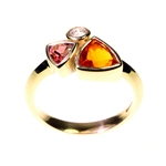 Fire Opal Diamond Ring