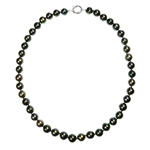 Necklace Black FWPearl, Silver Clasp