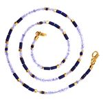 Necklace 2mm Lapis Lazuli, Tanzanite
