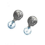 Earrings Snail 6mm Topaz Drop