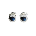 Blue Moonstone Stud Earrings