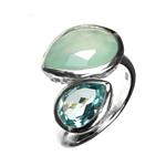 Aqua+Topaz Ring
