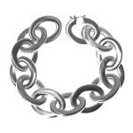 Thick Silver Bracelet