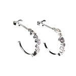 Earrings Half Hoop with CZ