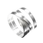Multi Loop Silver Irregular Band Ring